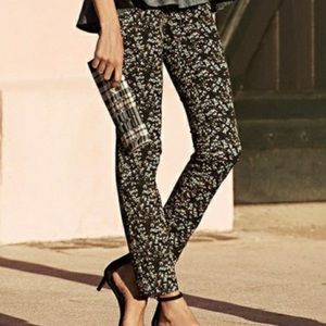 Banana republic sloan ditsy floral ankle pants